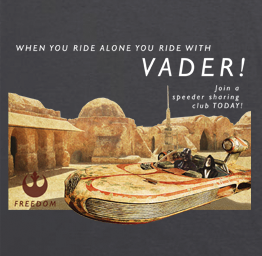 Ride with Vader (Premium Tee)