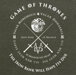 Game of Thrones Iron Bank (Premium Tee)