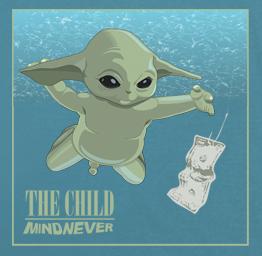 Baby Yoda Nirvana Nevermind premium t-shirt