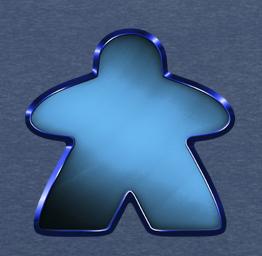 Blue Chrome Meeple
