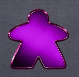 Metallic Purple Meeple