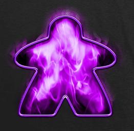 Purple Fire Meeple