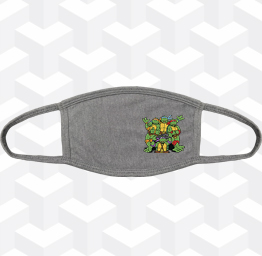 TMNT TURTLE POWER (2 Layer Cotton Face Mask w/ Ear Loops)