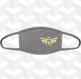 Zelda Tri-Force (2 Layer Cotton Face Mask w/ Ear Loops)