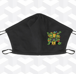 TMNT Turtle Power (2 Layer Cotton Face Mask)