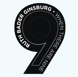 RBG – When There Are Nine (3″x4″ Die Cut Sticker)