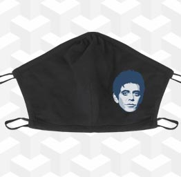 Lou Reed (2 Layer Cotton Face Mask)