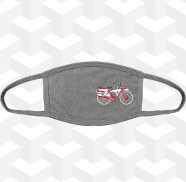 Peewee Herman's Bike (2 Layer Cotton Face Mask w/ Ear Loops)
