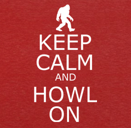 Bigfoot, 'Keep Calm & Howl On' (Premium Tee)